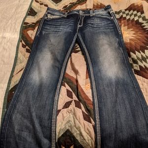 Women's Rock Revival Lonnie easy boot jeans.